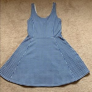 Little blue and white checkered dress